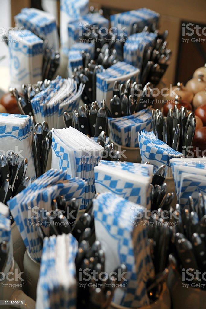 Bavarian style table accessoires stock photo