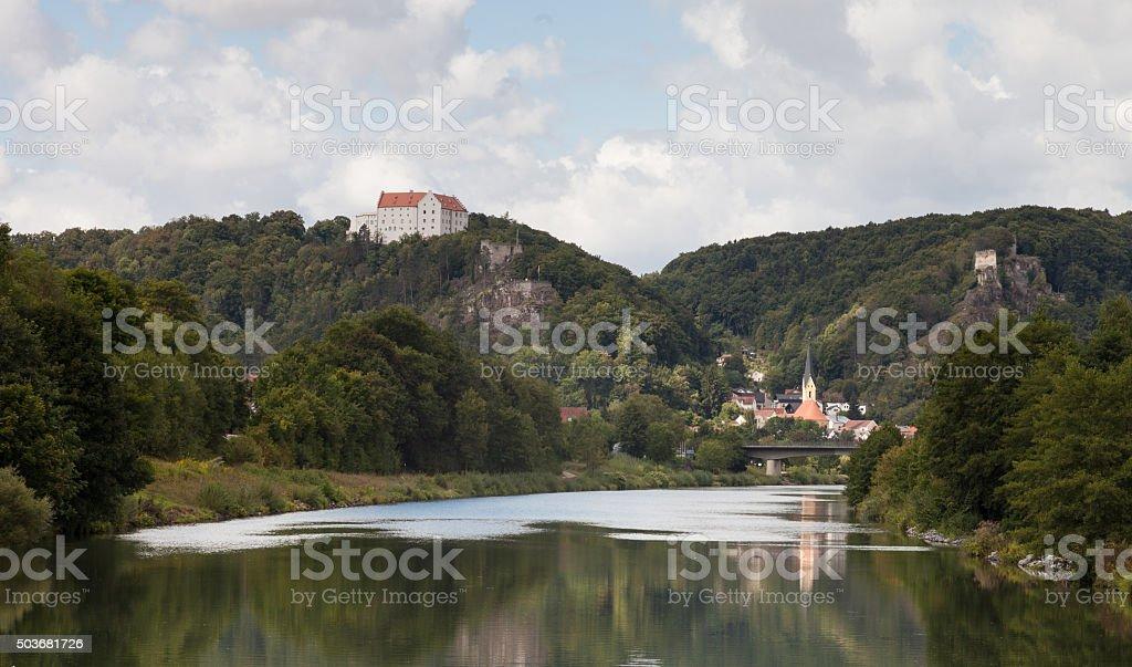 Bavarian Town Riedenburg stock photo