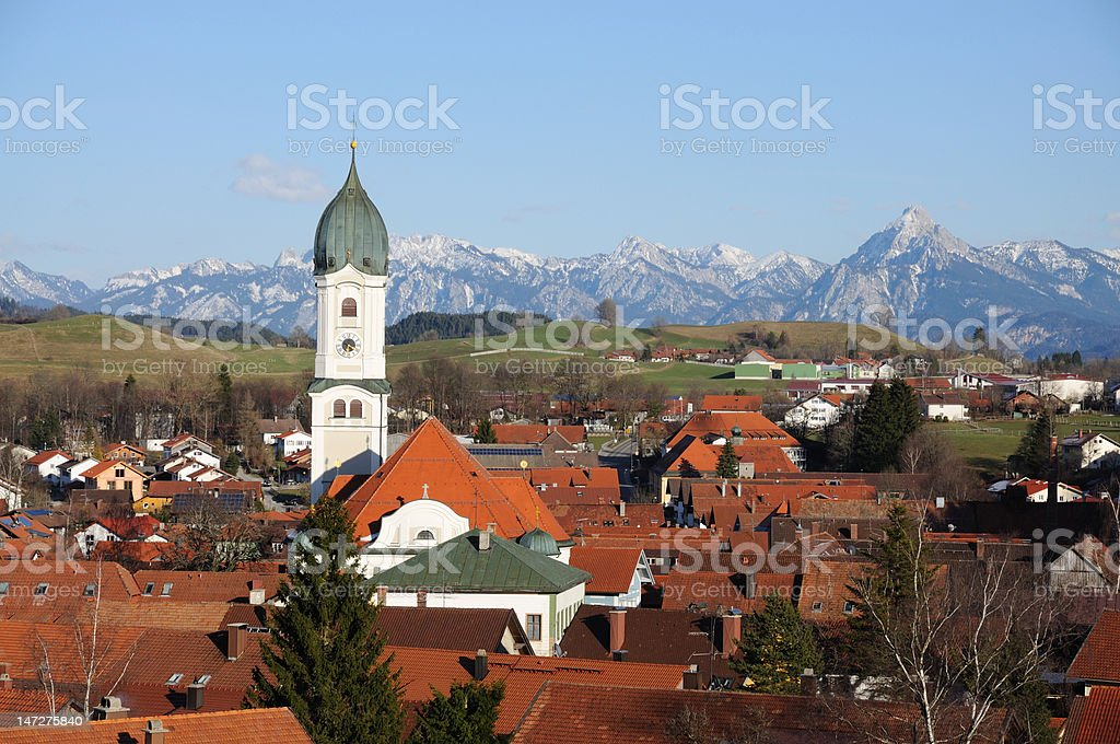 Bavarian Village, Germany royalty-free stock photo