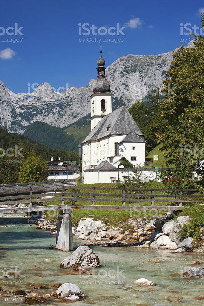 Bavarian village idyll stock photo