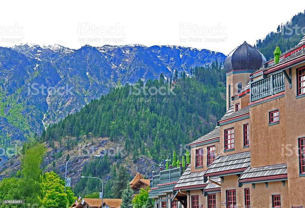 Bavarian Village Leavenworth stock photo