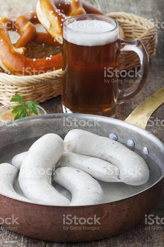 bavarian white sausages royalty-free stock photo