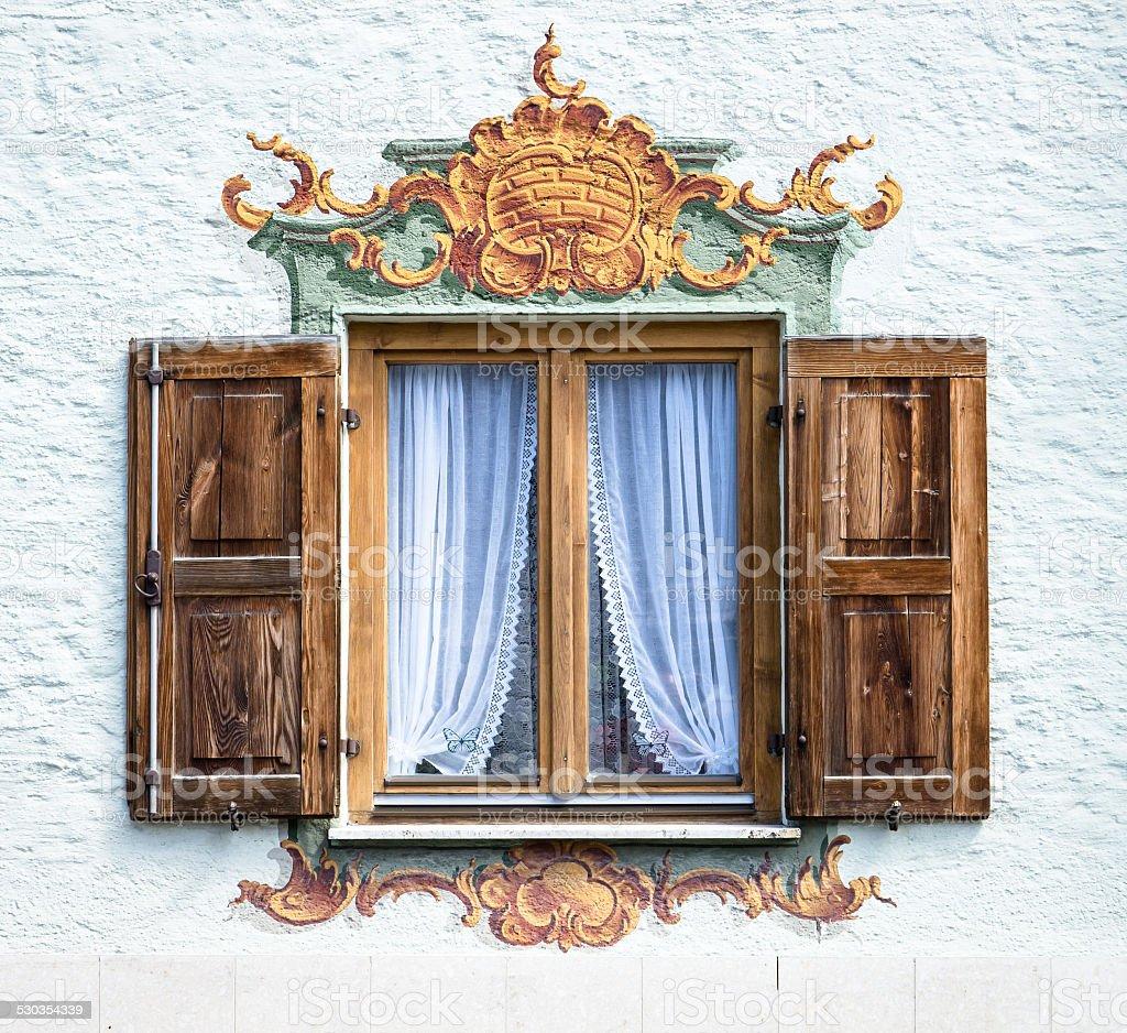 bavarian window stock photo