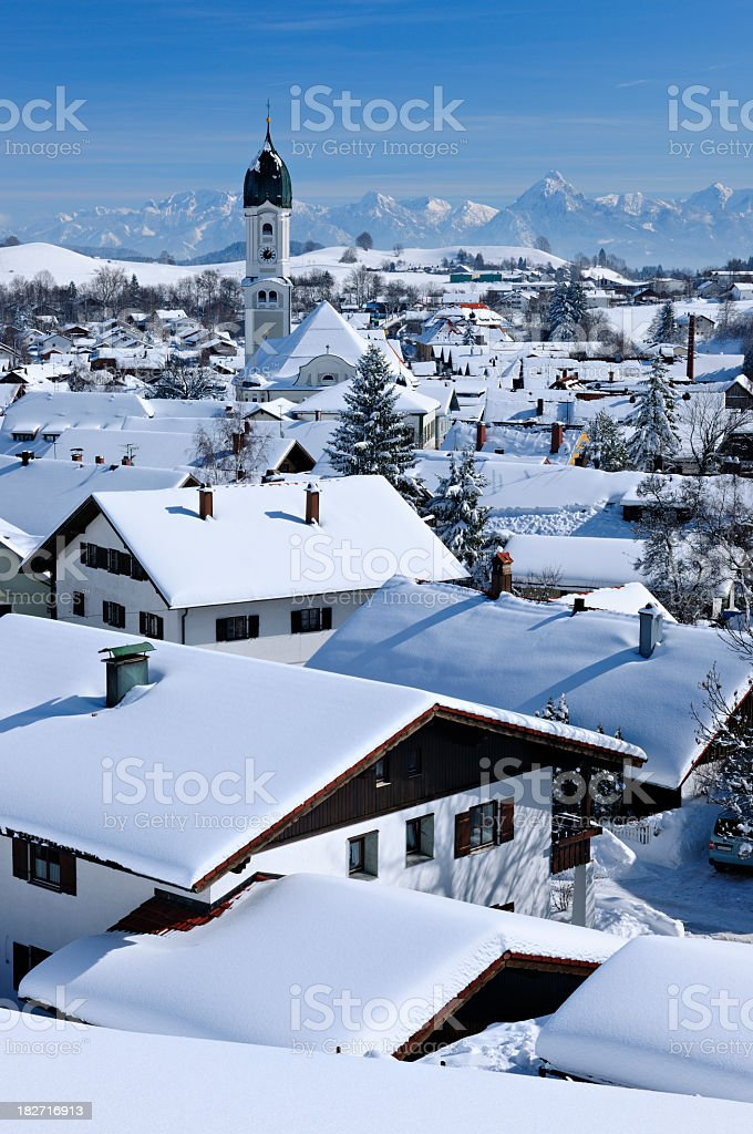 Bavarian Winter Idyll royalty-free stock photo