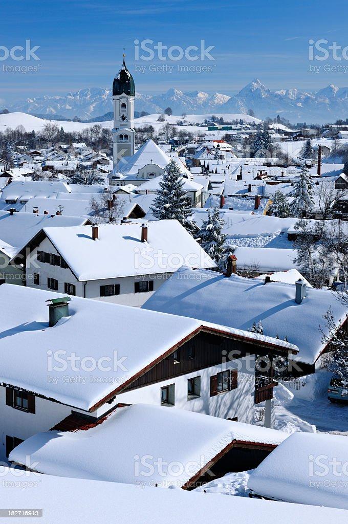 Bavarian Winter Idyll stock photo