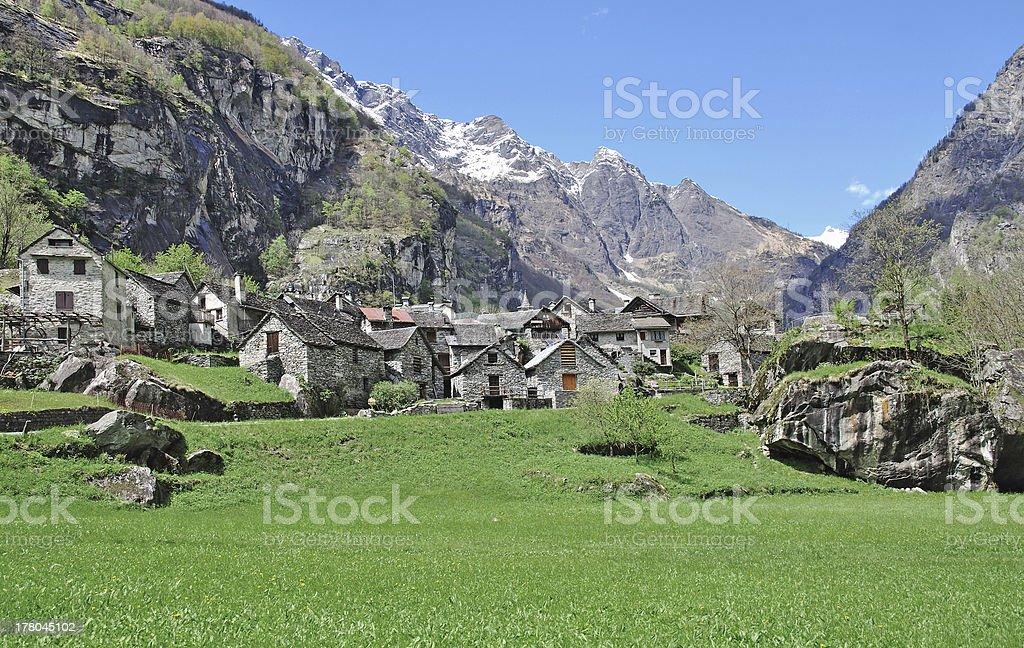 Bavona Valley, Ticino Canton, Switzerland royalty-free stock photo