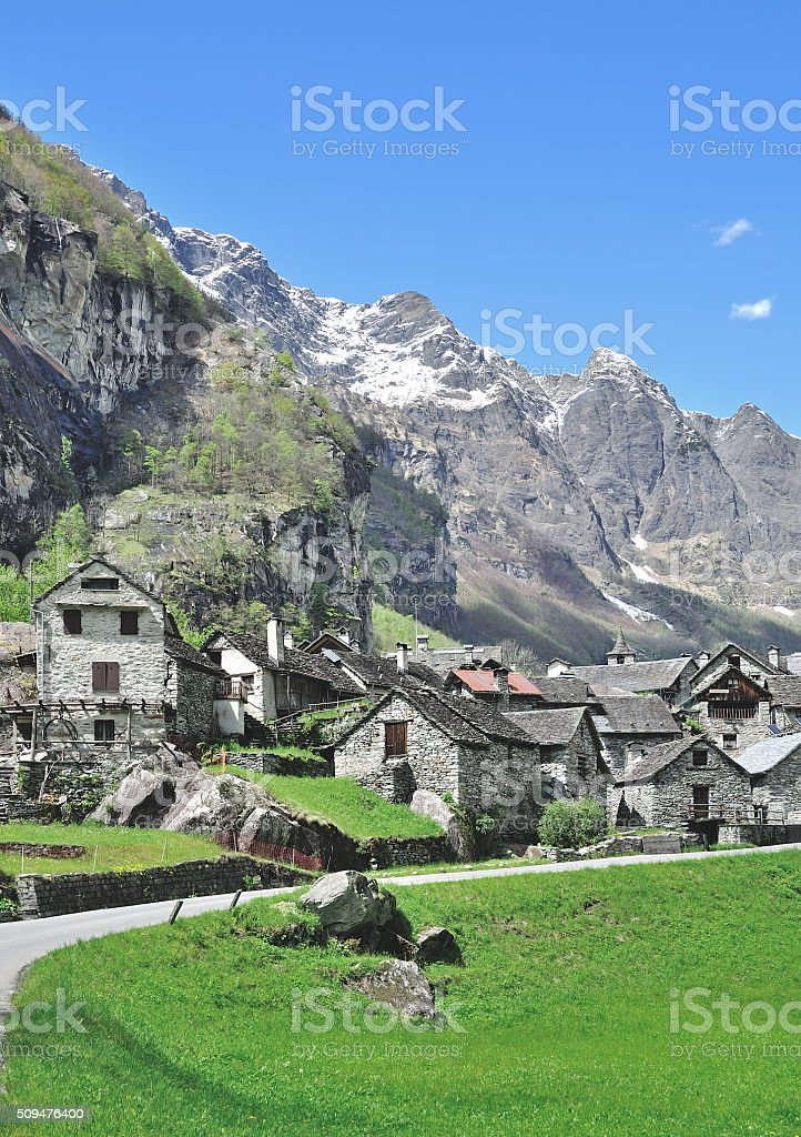 Bavona Valley,Ticino Canton,Switzerland stock photo