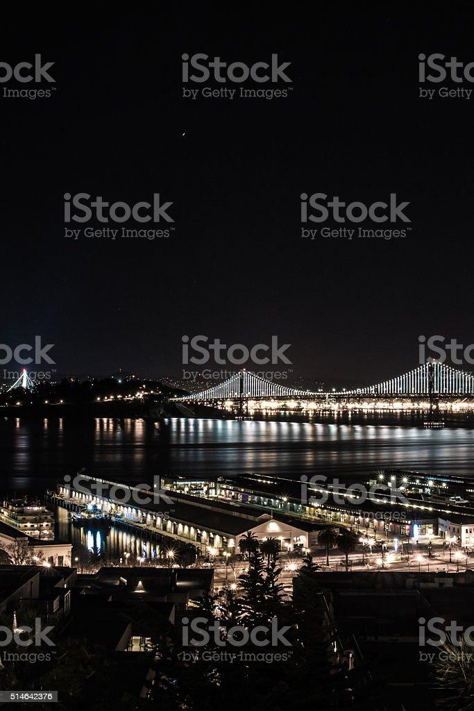 Bay and the Bridge stock photo