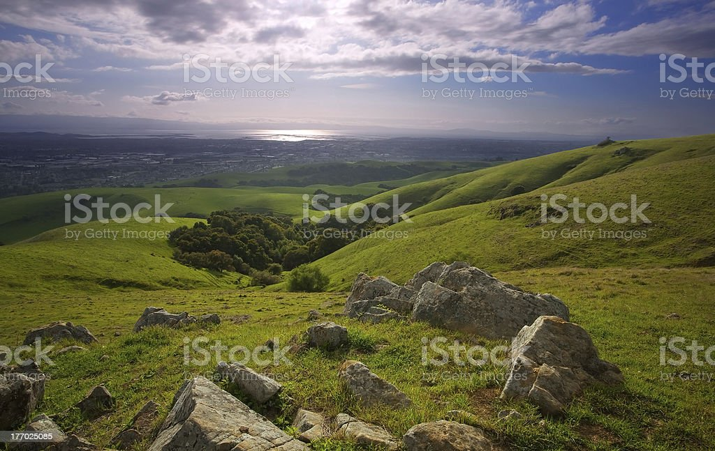Bay Area from the Foothills stock photo