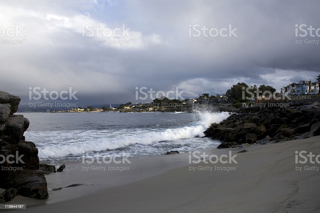 Bay at Monterey stock photo
