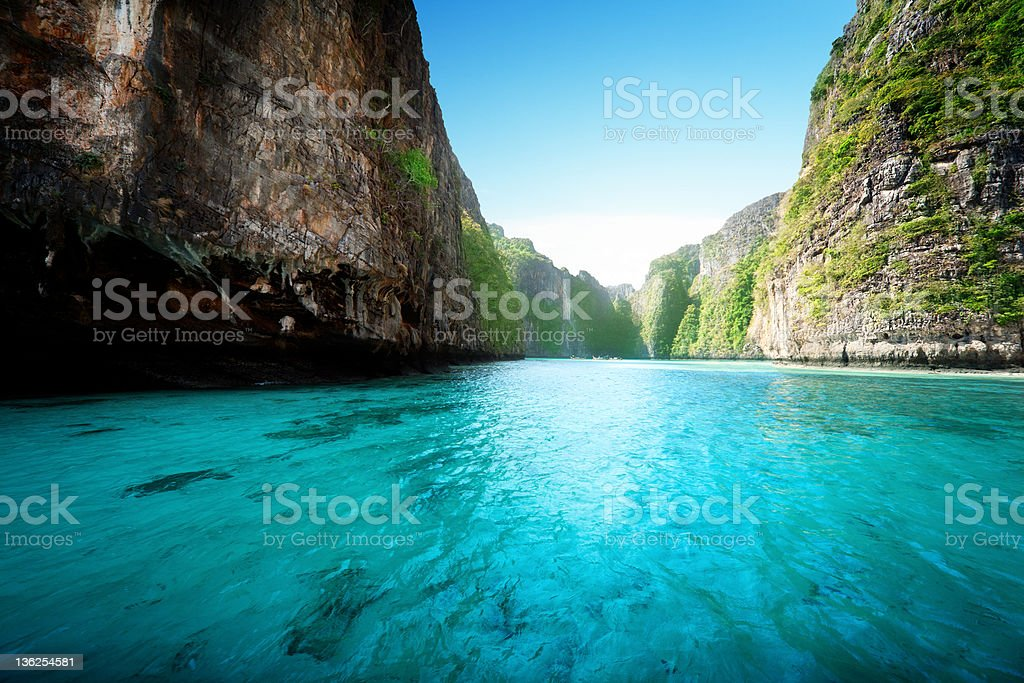 bay at Phiphi island in Thailand royalty-free stock photo