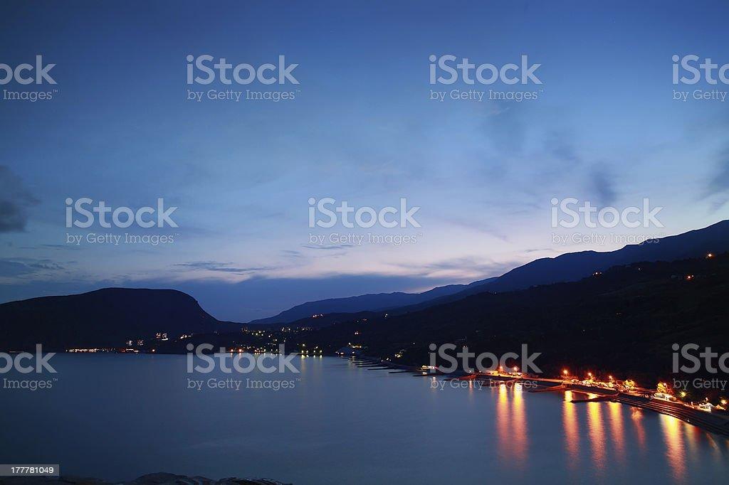 Bay at Sunset, Crimea, Ukraine royalty-free stock photo