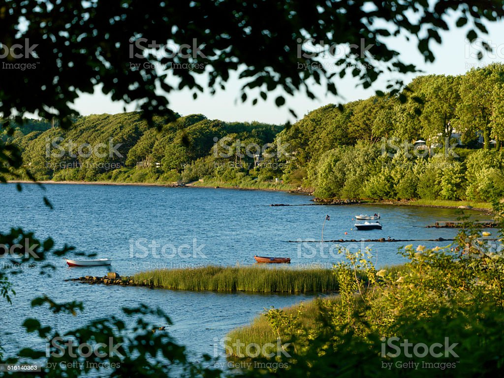 bay at the flensburger f?rde, baltic sea stock photo