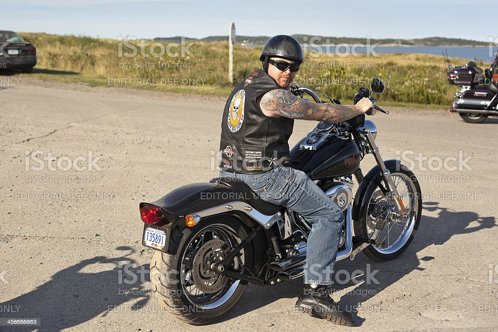 Bay Boy Biker Looking Back royalty-free stock photo