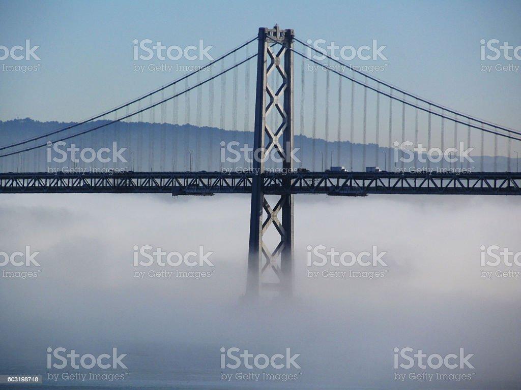 Bay Bridge And Fog stock photo