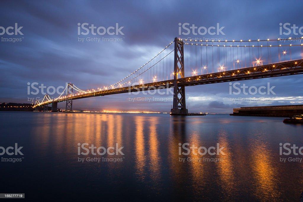 Bay Bridge in San Francisco, California stock photo