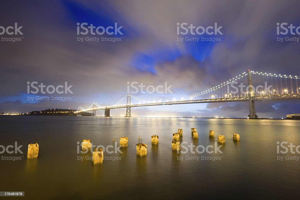 Bay Bridge in San Francisco, California royalty-free stock photo