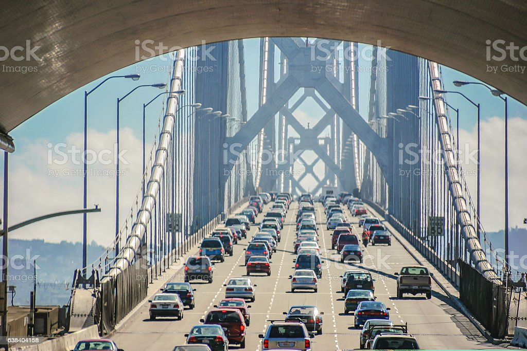 Bay bridge of San Francisco stock photo