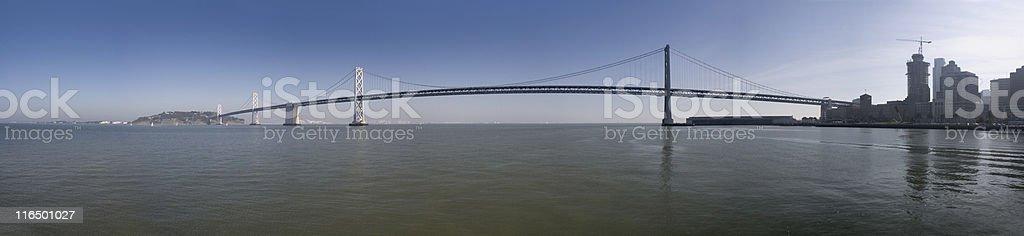 Bay Bridge Panorama royalty-free stock photo