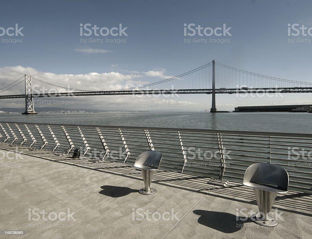 Bay Bridge royalty-free stock photo