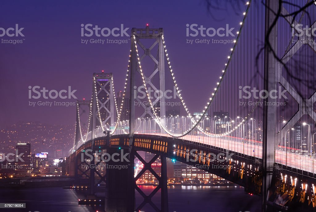 Bay Bridge Rush Hour Traffic San Francisco Transportation stock photo