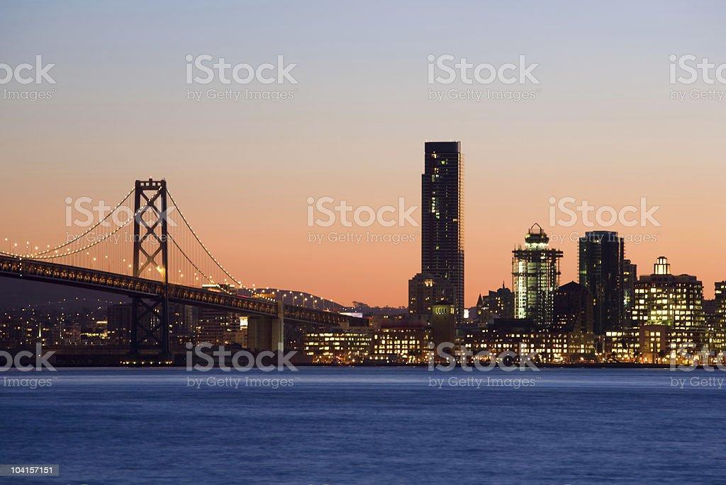Bay Bridge skyline royalty-free stock photo