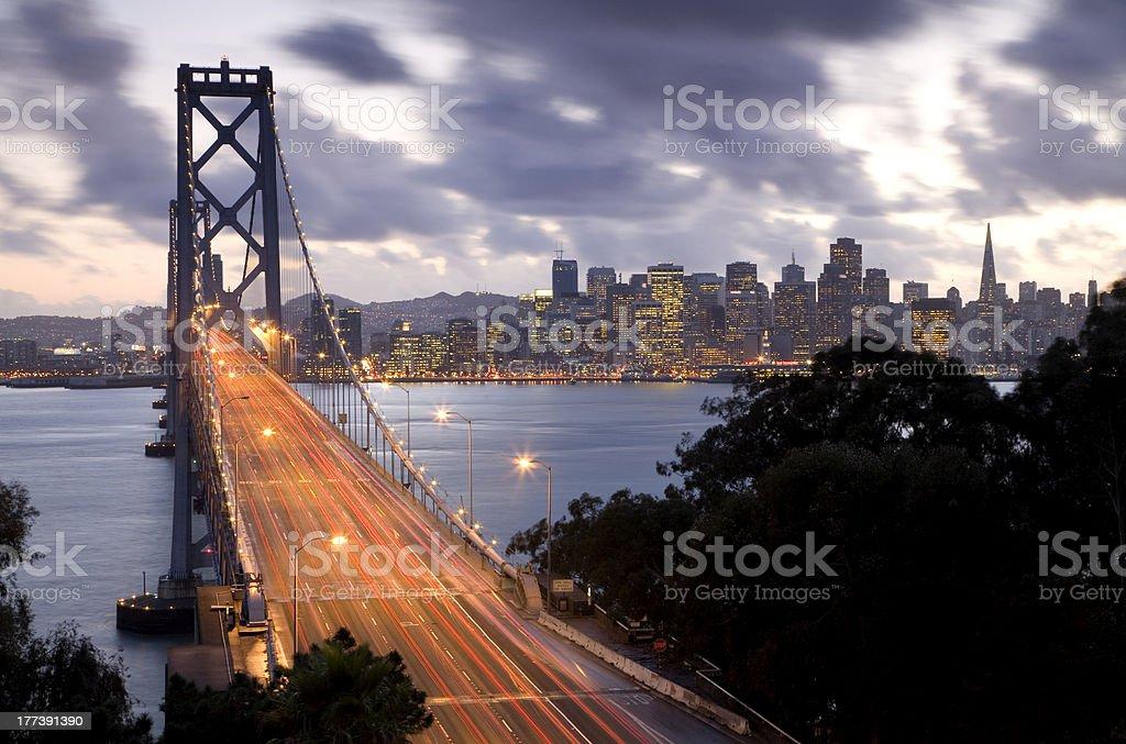 Bay Bridge to San Francisco stock photo