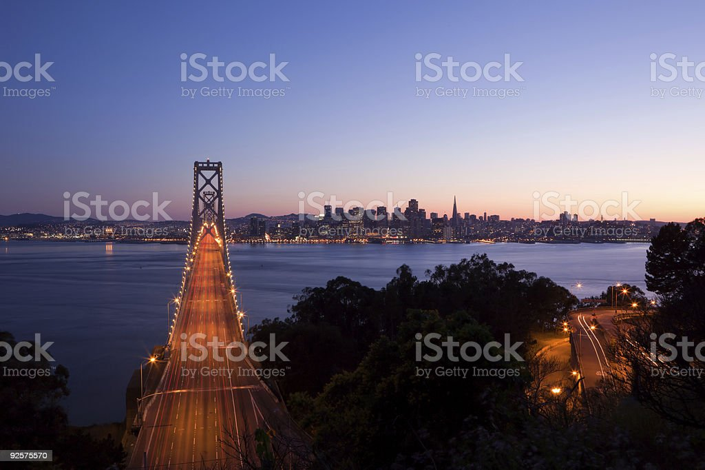 Bay Bridge wide view royalty-free stock photo