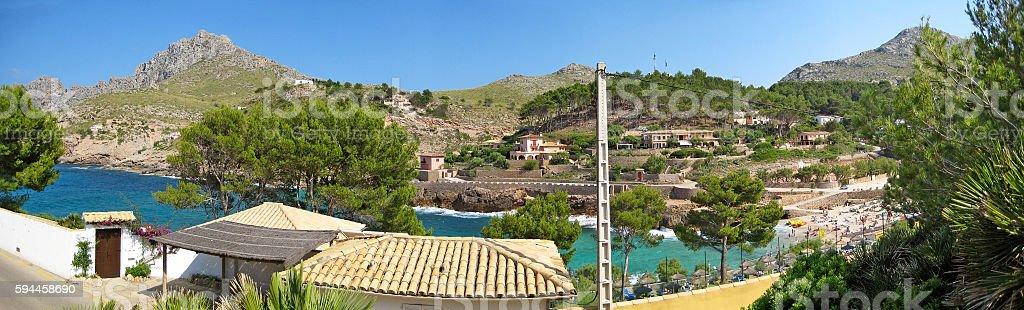 Bay Cala Molins in Cala Sant Vicenc, Majorca stock photo