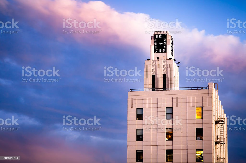 Bay Cities Guaranty Building ('The Clock Tower'), Sunset, Santa royalty-free stock photo