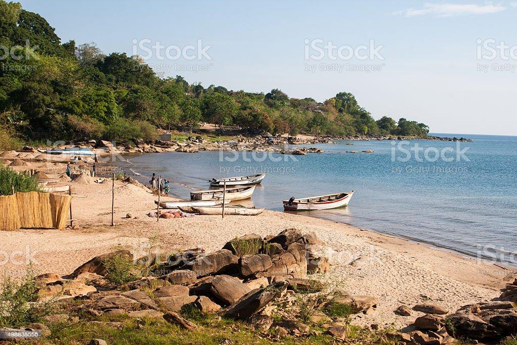 Bay in Nkhata Bay. stock photo