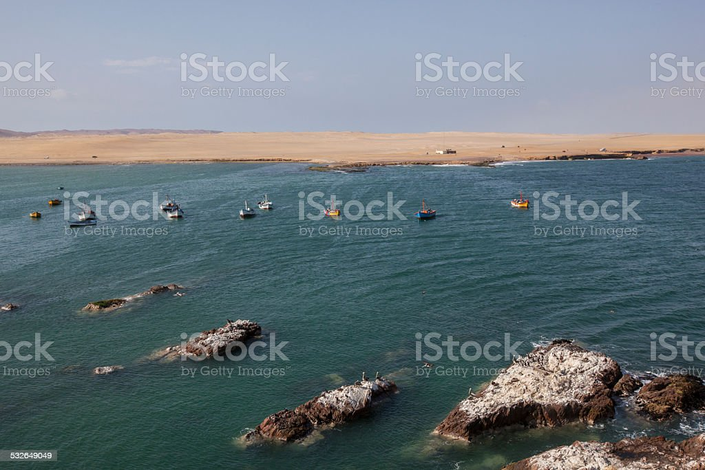 Bay in  Paracas National Reserve stock photo