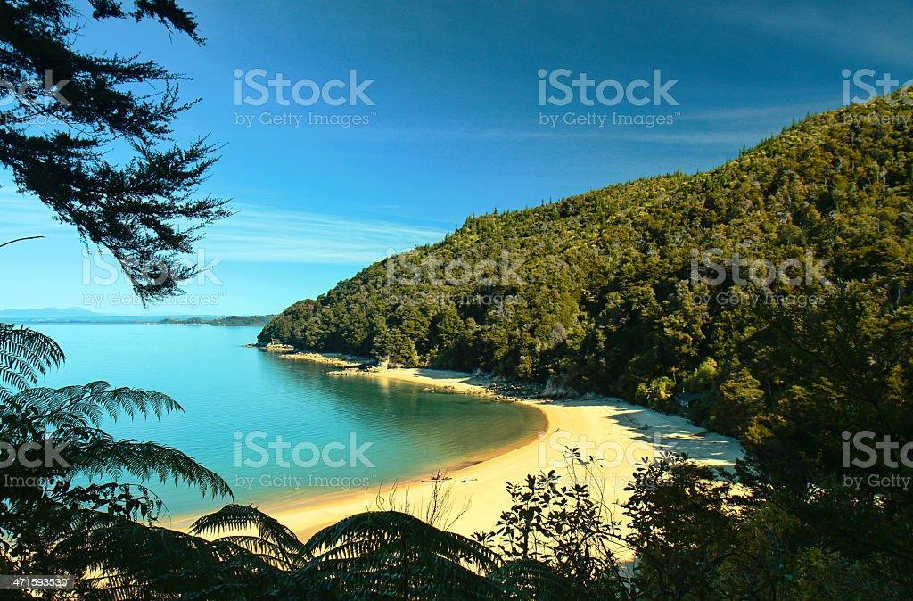 Bay in the Abel Tasman National Park stock photo