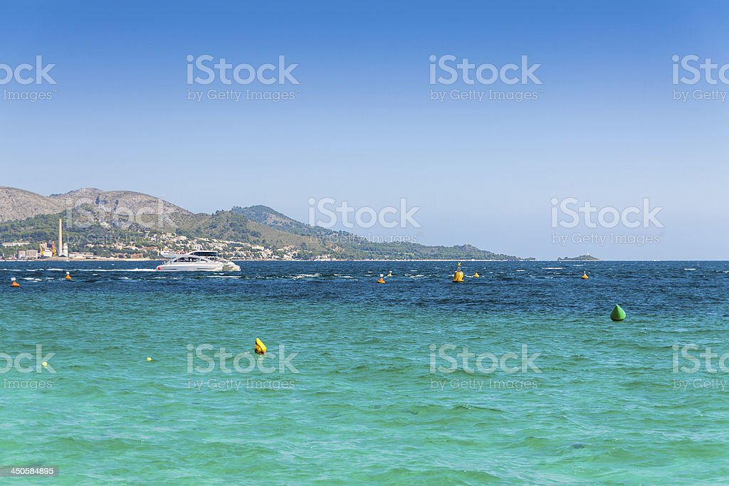 Bay of Alcudia royalty-free stock photo