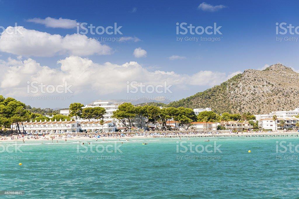 Bay of Alcudia stock photo