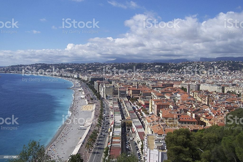 Bay of Angels in Nice royalty-free stock photo