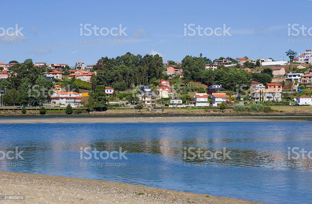 bay of Baiona stock photo