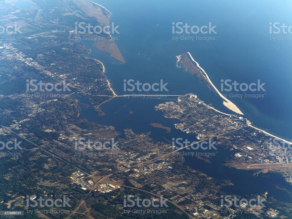 Bay of Biloxi, Mississippi, USA stock photo