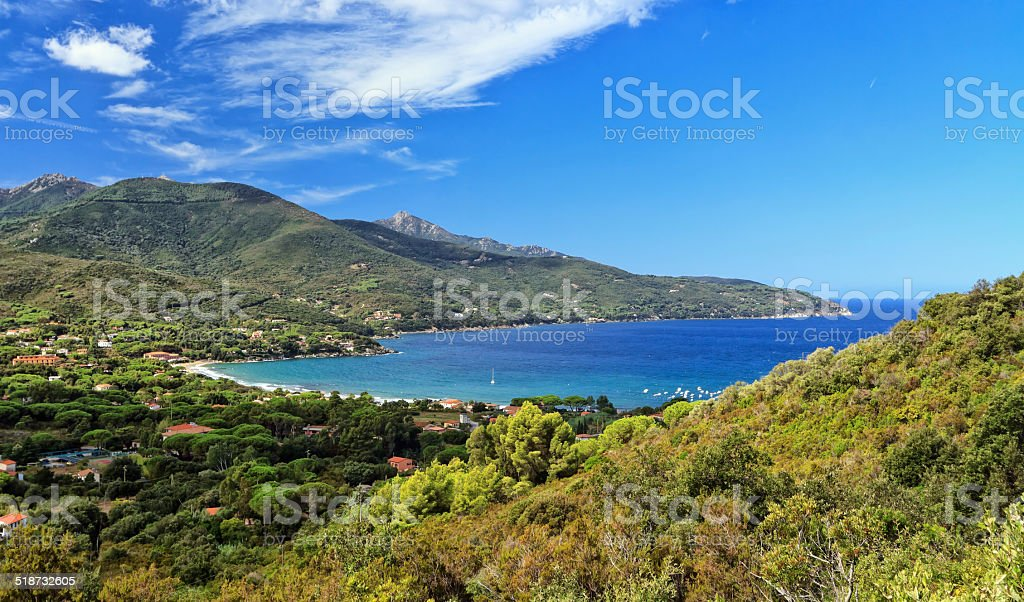 Bay of Biodola, Elba Island. stock photo
