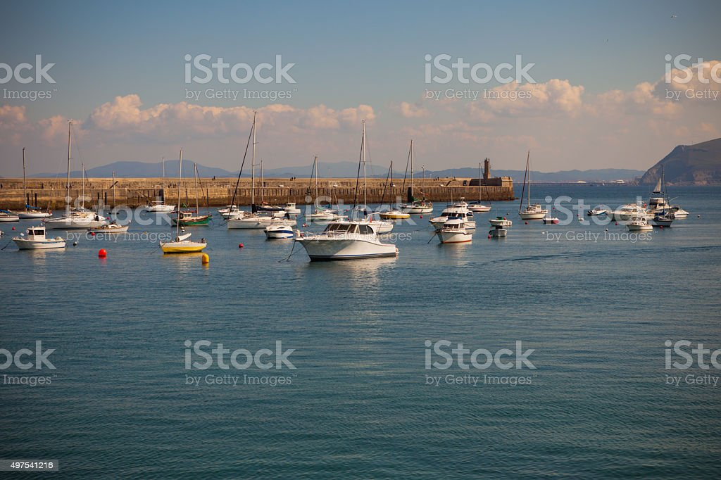 Bay of Biscay. stock photo