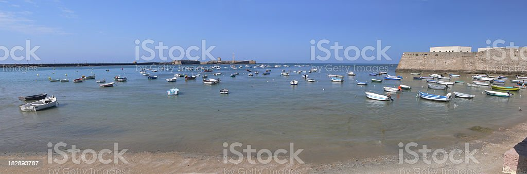Bay of Cadiz stock photo