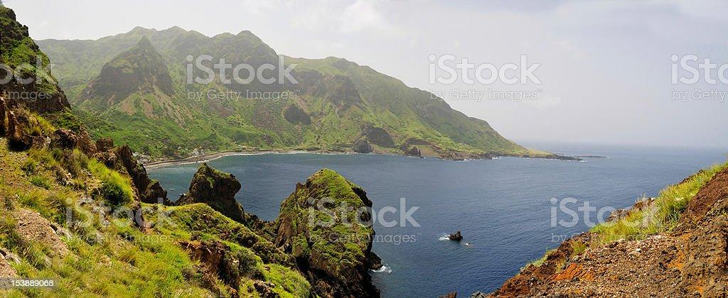 Bay of Faja D'Agua stock photo