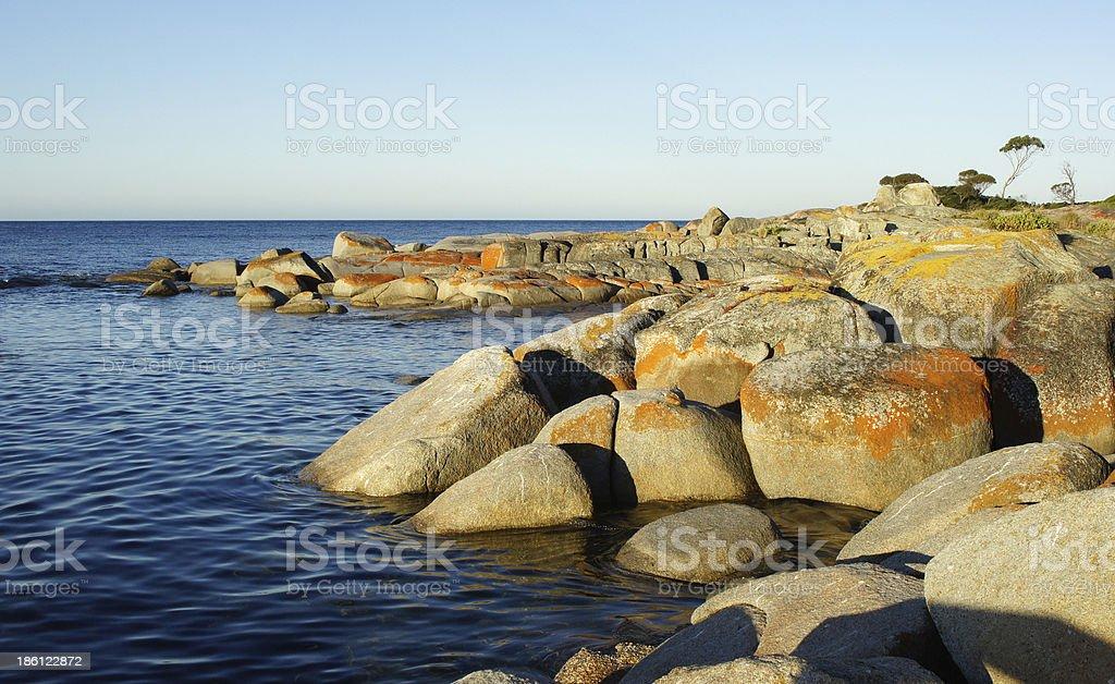 Bay of Fires, Tasmania, Australia royalty-free stock photo