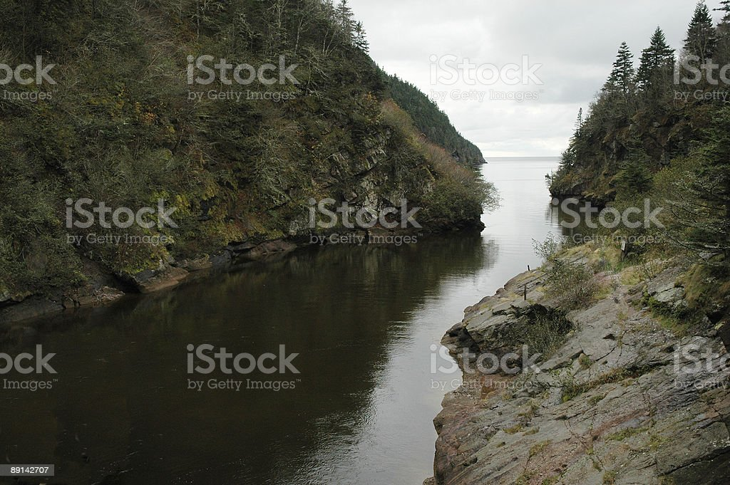 bay of fundy royalty-free stock photo