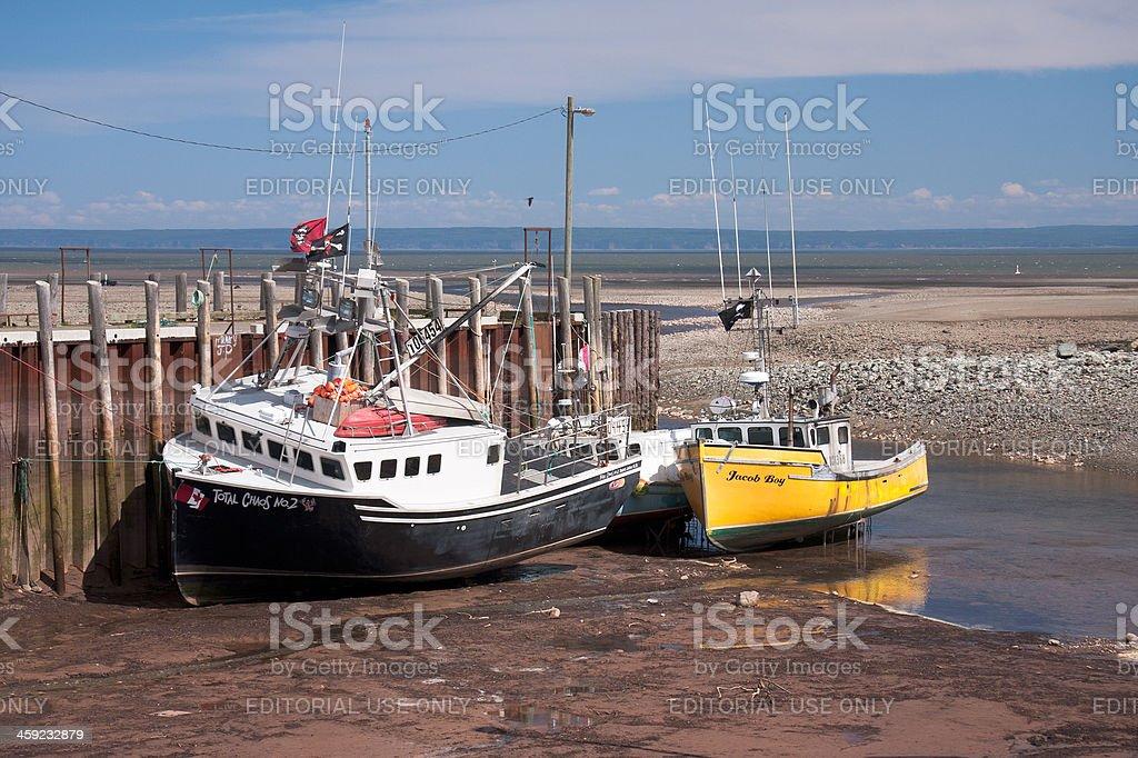 Bay of Fundy sea port royalty-free stock photo