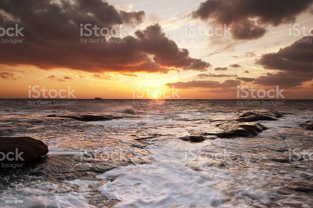 Bay of Fundy Sunset royalty-free stock photo