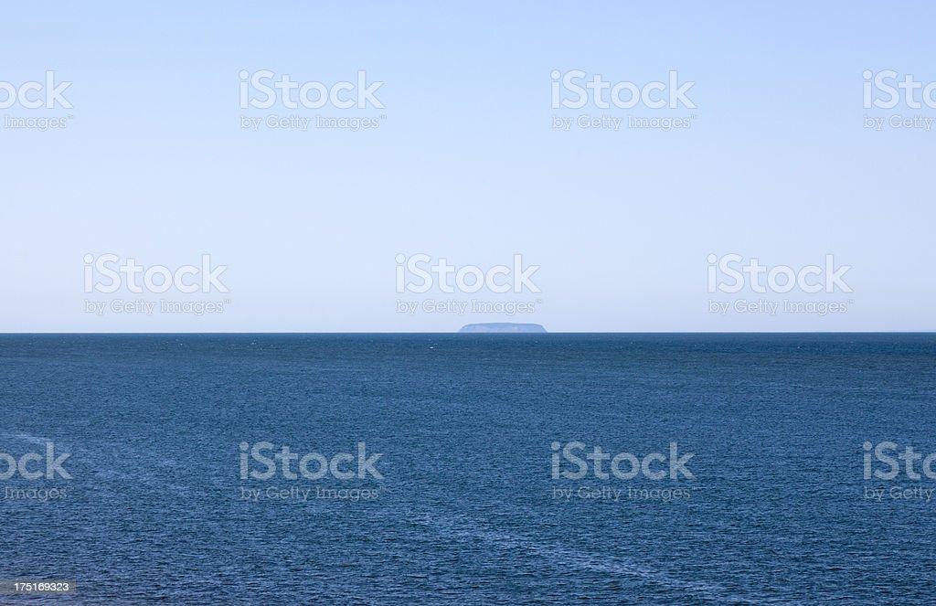 Bay of Fundy with Island royalty-free stock photo
