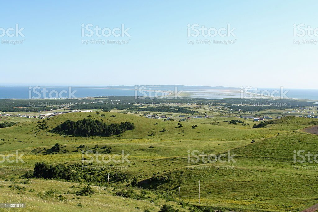 Baie du Havre-aux-Basques royalty-free stock photo