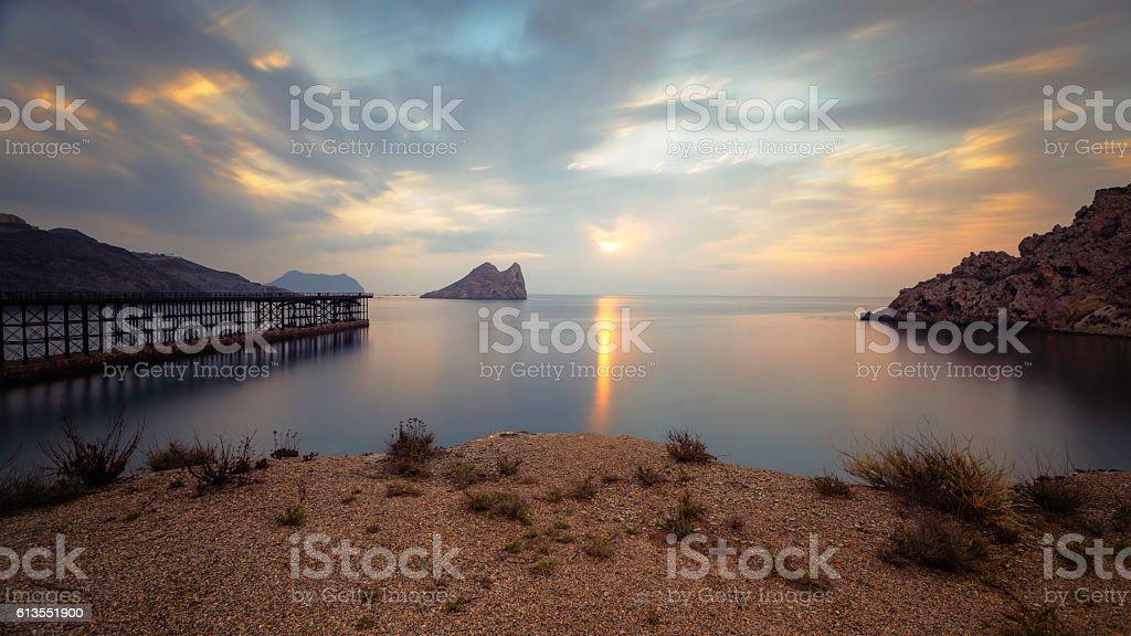 Bay of Hornillo at Aguilas, Murcia on the Costa Calida stock photo