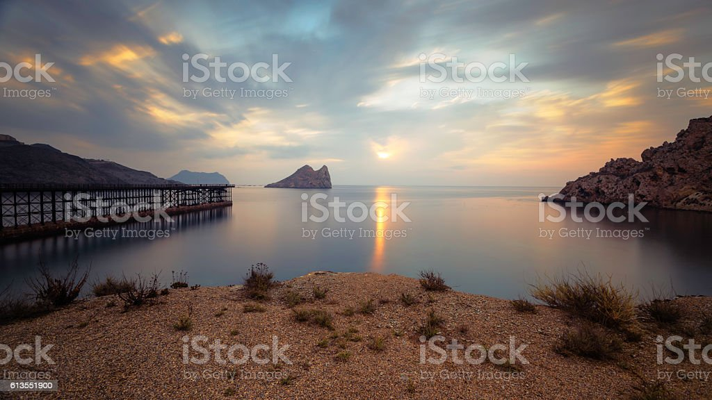 Bay of Hornillo at Aguilas, Murcia on the Costa Calida stock photo